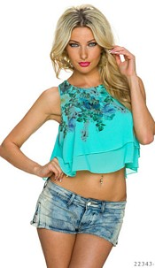 Crop Top Turquoise-green