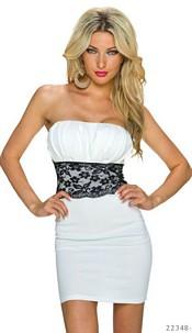 Strapless Minidress White