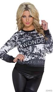 Pullover Black / White