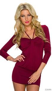 Minidress Bordeaux-red