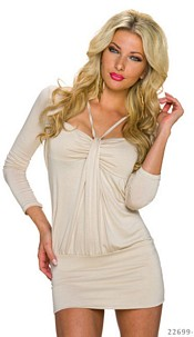 Minidress Cream