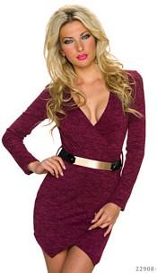 Mini Dress Wine-red
