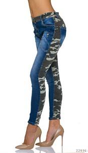 Harem-Jeans Indigo-blue