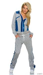 Joggingsuit Gray / Blue