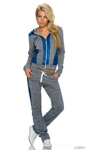 Joggingsuit Darkgray / Blue