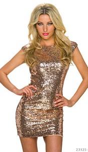 Sequin-Minidress Gold