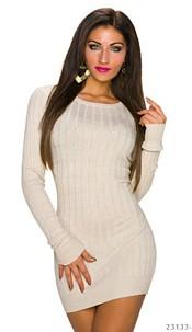 Long-Sleeved-Minidress Cream