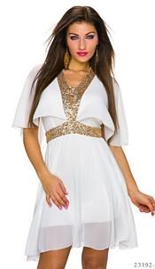 Minidress White / Gold