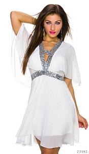 Minidress White / Silver