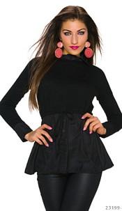 Long-Blouse Zwart