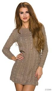 Knitted-Minidress Beige