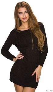 Knitted-Minidress Darkbrown