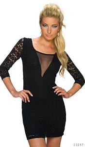 Lace-Minidress Black