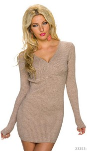 Long-Pullover Beige