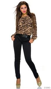 Jumpsuit Black / Leopard