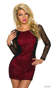 Minidress Black / Red
