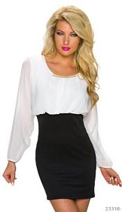 Minidress White / Black