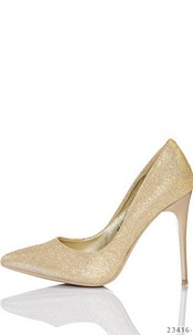 High Heels-Pumps Goud