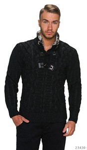 Knitted-Pullover Black