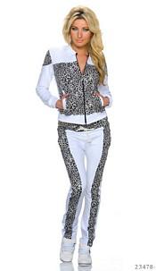 Jogging Suit White / Black