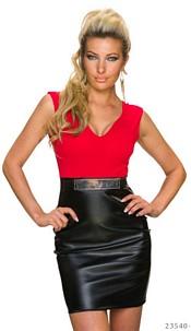 Mini-Dress Red / Black