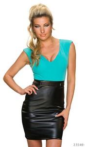 Mini-Dress Turquoise-Green / Black