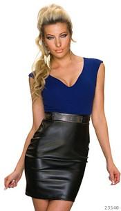 Mini-Dress Royalblue / Black