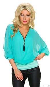 Mini-Dress Turquoise-Green