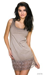 Mini-Dress Light-Brown