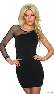 One-Shoulder-Mini-Dress Black