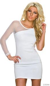 One-Shoulder-Mini-Dress White
