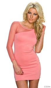 One-Shoulder-Mini-Dress Coral