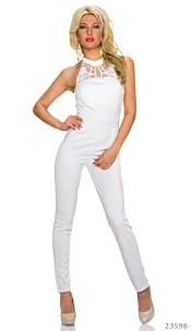Halter-Jumpsuit White
