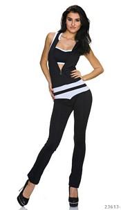 Jumpsuit Black / White