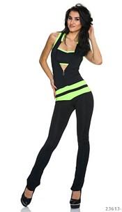 Jumpsuit Black / Neon-Green