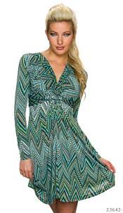 Mini-Dress Mixed / Green