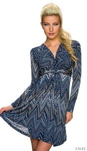 Mini-Dress Mixed / Dark-Blue