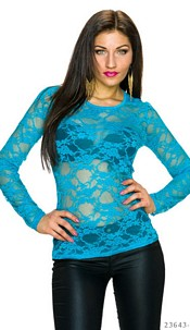 Long-Sleeved-Shirt Blue