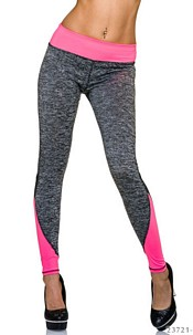 Joggingpants Gray / Neon-Rosa