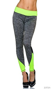 Joggingpants Gray / Neon-Yellow