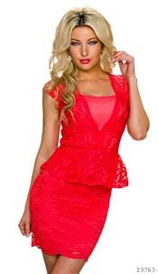 Mini-Dress Coral