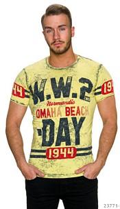 T-Shirt Mixed / Geel