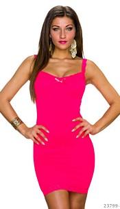 Mini-Dress Neon-Fuchsia