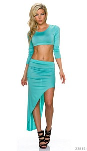 Shirt + Skirt Turquoise-Green