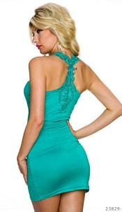 Mini-Dress Turquoise-Green