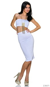 Top + Skirt White