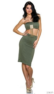 Top + Skirt Olive