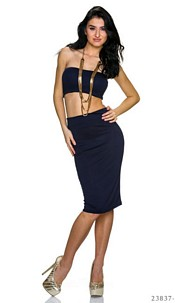 Top + Skirt Dark-Blue