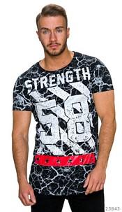 T-Shirt Black / White