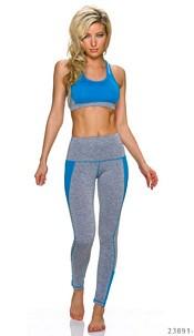 Top + Joggingpants Gray / Blue